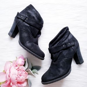 Crown Vintage WOS Suede Heeled Bootie